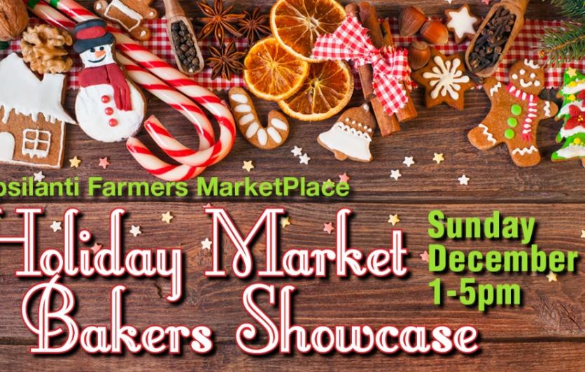 Holiday Market Bakers Showcase Sunday December 3 1:00-5:00p