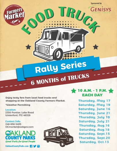 Food Truck Rally Series at the Oakland County Farmers Market