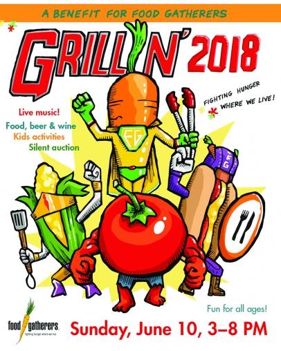 Illustration of super hero vegetables