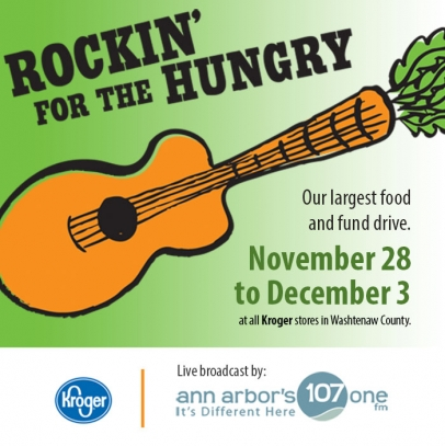 Rockin' for the Hungry Food and Fund Drive November 28 to December 3, 2017