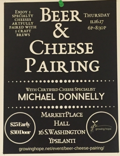 Beer and Cheese Pairing 11.16.17 6p-8:30p