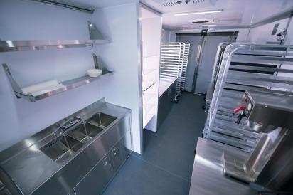 inside new food truck