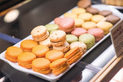macaroons at sweetwaters coffee and tea