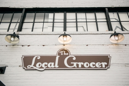 local grocer store sign