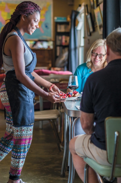 waitress at Grafted Root