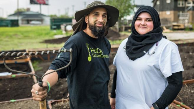 HUDA leaders Q (Babar Qadri) and Yasmin